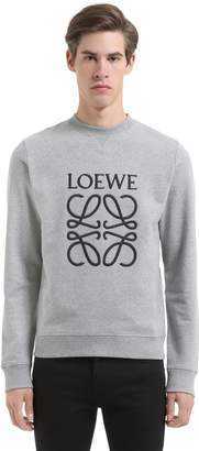 Loewe Logo Embroidered Cotton Sweatshirt