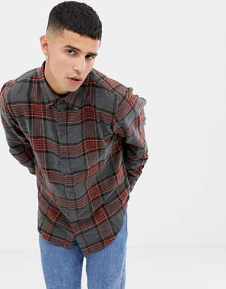 Another Influence Gray Flannel Shirt