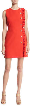 MSGM Ruffle Button-Trim Mini Dress