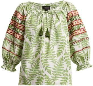 Polly fern-print cotton top