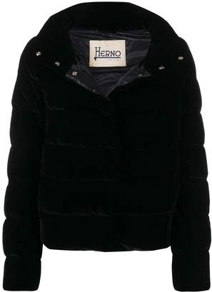 Herno high collar puffer jacket