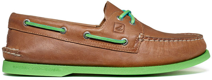 Sperry Men's Shoes, A/O 2-Eye Neon Boat Shoes