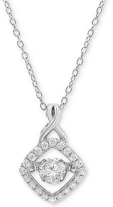 "Arabella Cubic Zirconia 18"" Pendant Necklace in Sterling Silver"