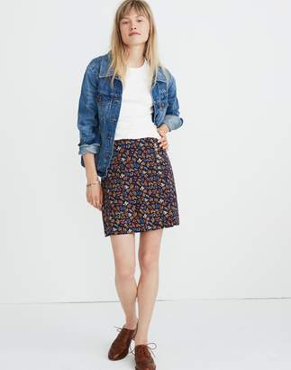 Madewell Side-Button A-Line Mini Skirt in Garden Party
