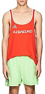Gosha Rubchinskiy X adidas Men's Logo Cotton-Blend Tank - Red