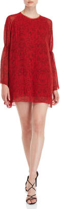 IRO Red Printed Mini Dress