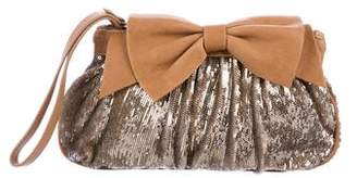 RED Valentino Sequin Bow Wristlet