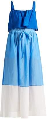 Diane von Furstenberg Colour-block cotton and silk-blend dress