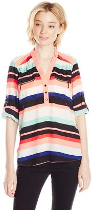 My Michelle Junior's Horizontal Stripe Tunic with Partial Front Packet