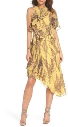 Keepsake the Label Asymmetric Ruffle Dress