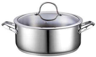 Cooks Standard Classic 7 Quart Stainless Steel Dutch Oven Casserole Stockpot with Lid