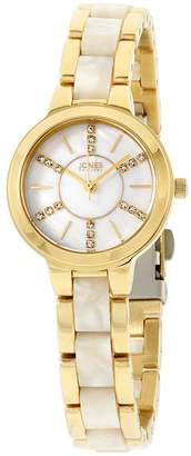 Jones New York Women's 28mm Steel Bracelet & Case Quartz Watch 11754G528-876