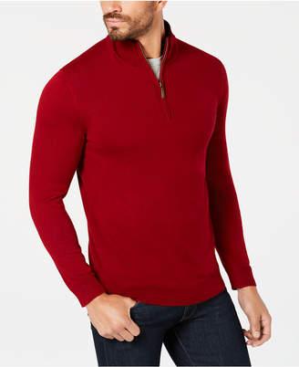 Club Room Men Quarter-Zip Merino Performance Sweater
