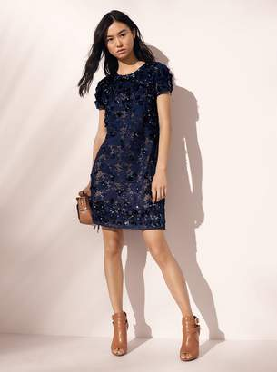 MICHAEL Michael Kors Floral Applique Lace Shift Dress