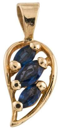 14K Sapphire Pendant