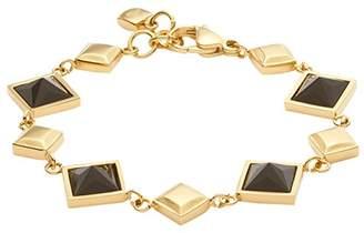 Leonardo Jewels Women bracelet Nuovo stainless steel glass black 19 cm - 016045