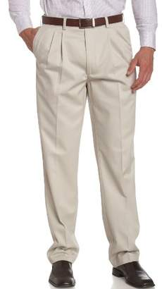 Savane Men's Big & Tall Wrinkle Free Pleated Twill Pant,38W 38L