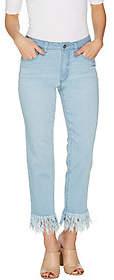 Women with Control Petite My Wonder DenimFringe Jeans