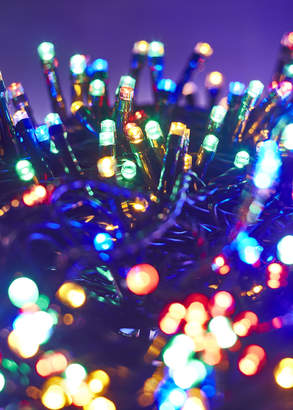 Webster Temple & 1000 Multi-Coloured LED Solar String Fairy Lights