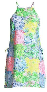 Lilly Pulitzer Women's Pearl Multicolor Floral Printed Halter Romper