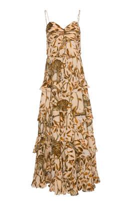Johanna Ortiz All I've Ever Known Printed Tiered Silk Maxi Dress