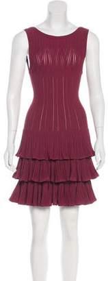 Alaia Jacquard Fit And Flared Mini Dress