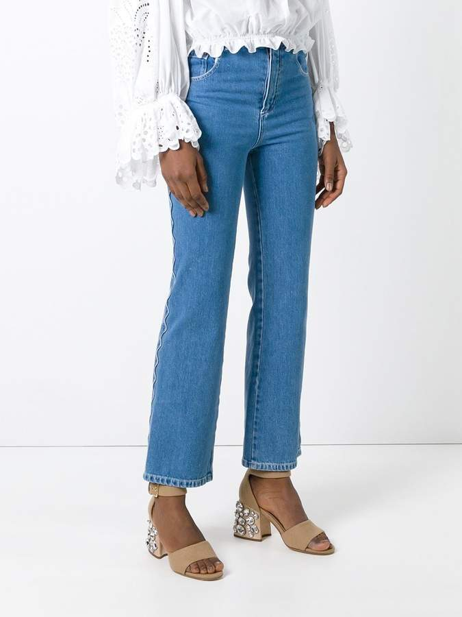 Chloé scalloped jeans