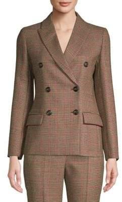 Max Mara Monile Checkered Wool Jacket