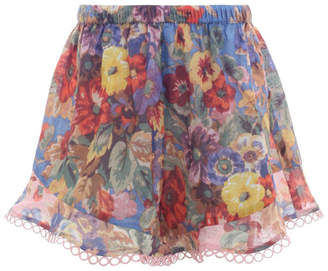 Zimmermann Kids Lovelorn Floral Shorts