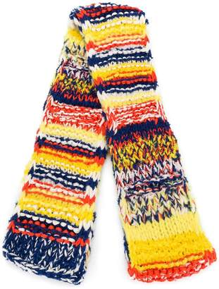 Pringle hand knitted rainbow scarf