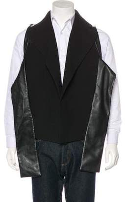 Rad Hourani RAD by Leather-Trimmed Vest w/ Tags