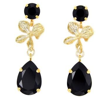 Black Orchid Rosaspina Firenze Earrings