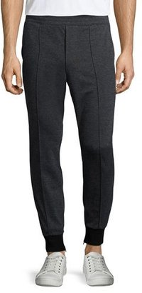 Vince Interlock Knit Jogger Pants, Black $225 thestylecure.com