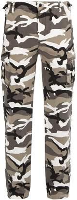 Balenciaga Camouflage-print cotton cargo trousers