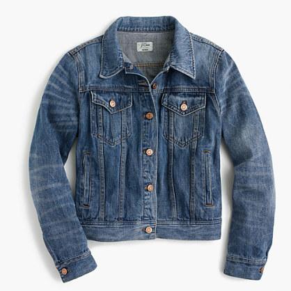 J.CrewPetite denim jacket in Newton wash