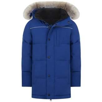Canada Goose Canada GooseBoys Blue Down Padded Eakin Parka Coat