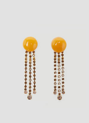 Marni Resin and Crystal Drop Earrings in Orange