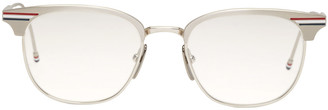 Thom Browne Silver Round TB-104 Glasses $675 thestylecure.com