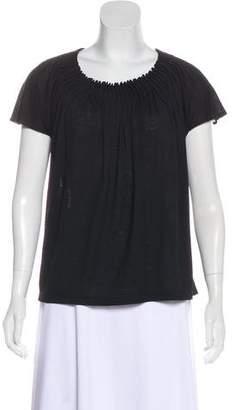 Chloé Pleated Short Sleeve Top