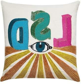 Jonathan Adler Beaded Linen Pillow
