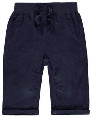 George Navy Woven Trousers