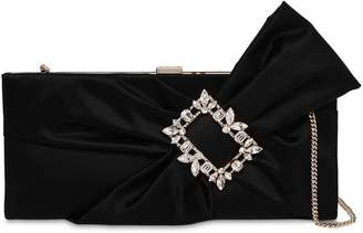 891eb4ff0248 Roger Vivier Trianon Satin Clutch W  Embellished Bow