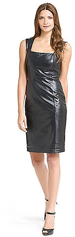 Silver Screen Leather Dress