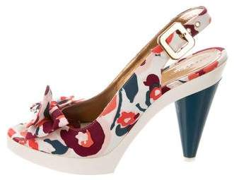 Marc by Marc Jacobs Printed Slingback Pumps
