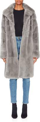 Pologeorgis Long Rabbit Hooded Coat