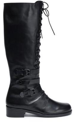 Stuart Weitzman Lace-up Leather Boots