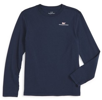 Toddler Boy's Vineyard Vines Logo Graphic Long Sleeve T-Shirt $29.50 thestylecure.com