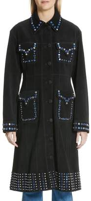 Ellery Rhinestone Cowboy Suede Coat
