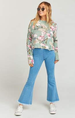 Show Me Your Mumu Cropped Varsity Sweater ~ Primavera Floral