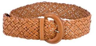 Theory Leather Woven Belt
